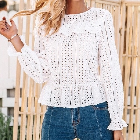 Stile Loft Tops Camilla White Crochet Lace Top Poshmark